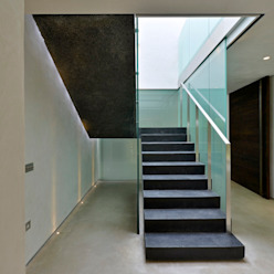 Little England Farm - House Modern Corridor, Hallway and Staircase by BBM Sustainable Design Limited Modern