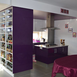 Cozinhas por medida 2 Ansidecor Cozinhas modernas Roxo/violeta