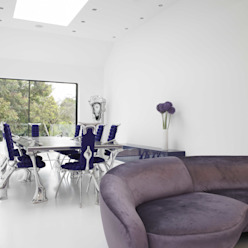 Ice White House-Luxury home Minimalist dining room by Quirke McNamara Minimalist