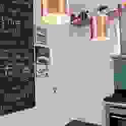 Residência Freguesia - Cozinha Adoro Arquitetura Cozinhas modernas Madeira Verde