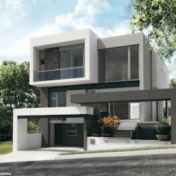 Fachada principal Diez y Nueve Grados Arquitectos Casas minimalistas