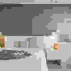 Papeles decorativos en el dormitorio principal Laura Yerpes Estudio de Interiorismo Dormitorios modernos
