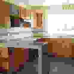 Cocina en Privanzas del Campestre Cocinas de estilo moderno de H-abitat Diseño & Interiores Moderno Madera Acabado en madera