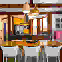 Casa Caiçara RAC ARQUITETURA Salas de jantar coloniais