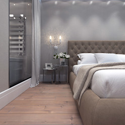 Master bedroom with en suite bathroom Спальня в классическом стиле от Your royal design Классический