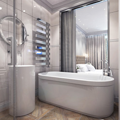 Master bedroom with en suite bathroom Ванная в классическом стиле от Your royal design Классический