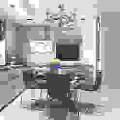 Studio. The kitchen and living room Кухни в эклектичном стиле от Your royal design Эклектичный