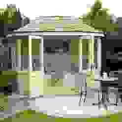 Oval Summerhouse Kolonialer Garten von homify Kolonial Fliesen
