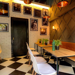 CAFE IN MUMBAI HK ARCHITECTS Espaços gastronômicos modernos