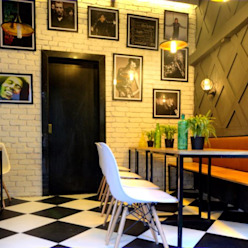 CAFE IN MUMBAI HK ARCHITECTS Bares e clubes modernos