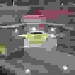 Ayrshire outdoor living Moderner Garten von Lithic Fire Modern Sandstein