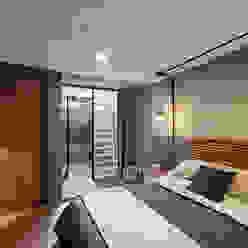 Industrialna sypialnia od MX Taller de Arquitectura & Diseño Industrialny Beton
