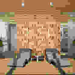 """Баня """"Tropici"""" Студия дизайна Дарьи Одарюк Спа в стиле модерн Многоцветный"""