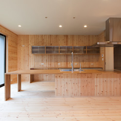 中村建築研究室 エヌラボ(n-lab) Cocinas rurales Madera Acabado en madera
