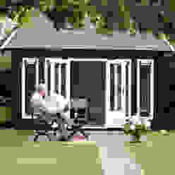 The Alabama Log Cabin Klassische Arbeitszimmer von Garden Affairs Ltd Klassisch Holz Holznachbildung