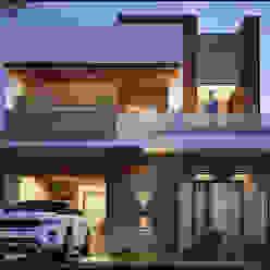 Mr. Goyal Pixel Works 現代房屋設計點子、靈感 & 圖片 Beige