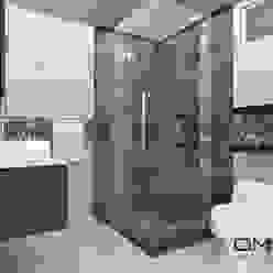 Diseño interior en apartamento, espacio baño principal om-a arquitectura y diseño Baños de estilo moderno