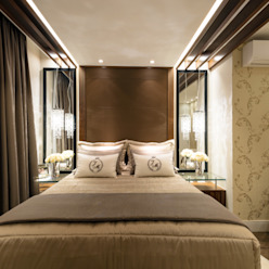 Casa Villa Quartos modernos por Designer de Interiores e Paisagista Iara Kílaris Moderno