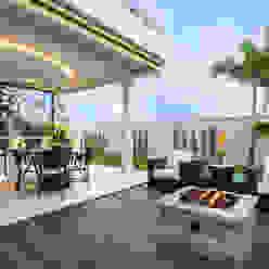 Casa Villa Varandas, alpendres e terraços modernos por Designer de Interiores e Paisagista Iara Kílaris Moderno