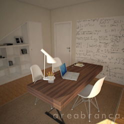 Escritório Areabranca Escritórios modernos