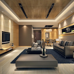 Asian style living room by Axis Group Of Interior Design Asian