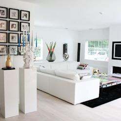 Villa Bergen Moderne woonkamers van By Lenny Modern