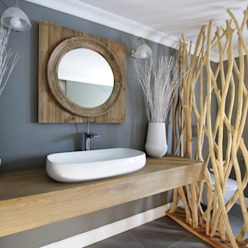 Guest Bathroom Rustic style bathroom by JSD Interiors Rustic Wood Wood effect