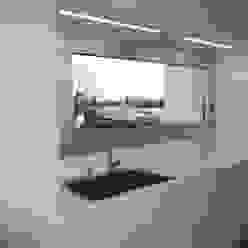 cucina bianco lucido su misura Frigerio Paolo & C. CucinaPiani di lavoro Bianco
