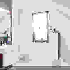 現代浴室設計點子、靈感&圖片 根據 Biuro Projektów MTM Styl - domywstylu.pl 現代風