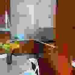 cucina su misura in teak Frigerio Paolo & C. CucinaArmadietti & Scaffali Legno