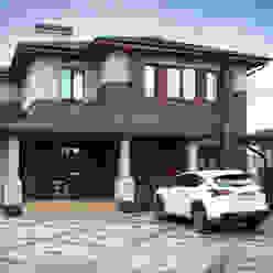 Жилой дом в стиле Фрэнка Ллойда Райта АРХИФАБРИКА Дома в стиле модерн