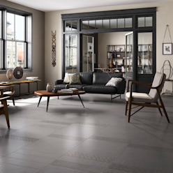 Industrial style living room by Sani-bouw Industrial Tiles