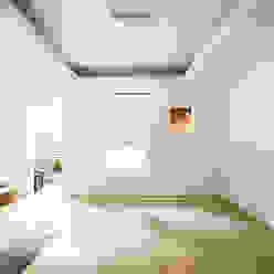 The Modern Square _용인 타운하우스 모던스타일 침실 by 지오아키텍처 모던