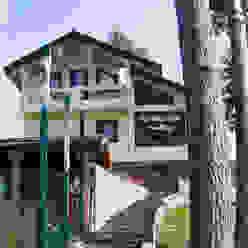 Баня из клееного бруса Дмитрий Кругляк Спа в рустикальном стиле
