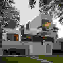 CASA PAROTA LUIS GRACIA ARQUITECTURA + DISEÑO Casas modernas Piedra Blanco