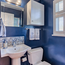 Broadway Estates Kitchen and Powder Room Classic style bathroom by Studio Design LLC Classic