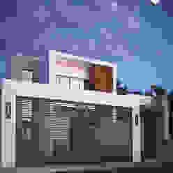 Fachada principal CDR CONSTRUCTORA Casas modernas