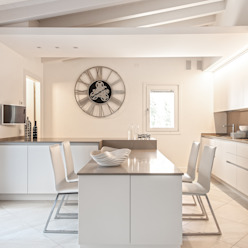 Minimal white BRANDO concept Cucina moderna