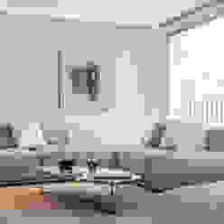 Minimal white Soggiorno moderno di BRANDO concept Moderno