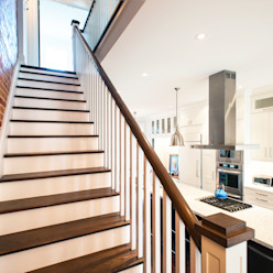 Bickford Park Modern Corridor, Hallway and Staircase by Solares Architecture Modern