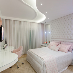 Arquiteto Aquiles Nícolas Kílaris Dormitorios infantiles de estilo moderno Blanco