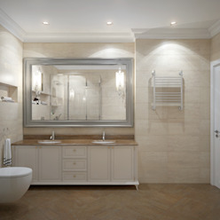 apartments in Moscow Modern Bathroom by Rubleva Design Modern