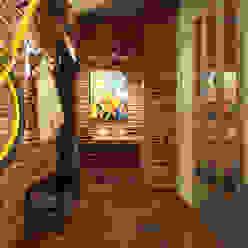 Studio in loft style industrial style corridor, hallway & stairs by Rubleva Design Industrial