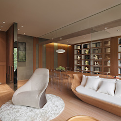 Reunite 形構設計 Morpho-Design 现代客厅設計點子、靈感 & 圖片