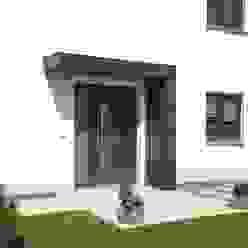 Eingangsüberdachung, Vordach für Haustüren von Siebau homify Moderne Häuser