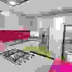 Modern design with magenta accents Modern kitchen by PTC Kitchens Modern
