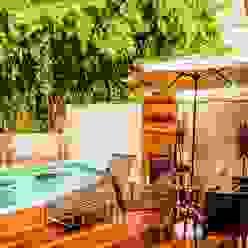 Spa com Deck Spa tropical por Bianca Ferreira Arquitetura e Interiores Tropical Cerâmica