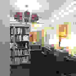 Pasillos, vestíbulos y escaleras de estilo ecléctico de JULIA KABANOVA's DESIGN STUDIO Ecléctico