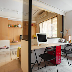 書房/客房 by 一葉藍朵設計家飾所 A Lentil Design Scandinavian