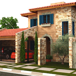 Casa Toscana - Jd. Campo Belo Casas mediterrâneas por Leonardo Morato Arquitetura Mediterrâneo